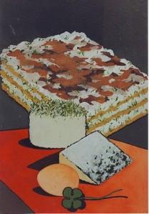 Les lasagnes de chevre au basilic